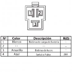 627 Estator de Bobinas Agility 125 MV