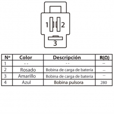 628 Estator de Bobinas Agility RS NKD XTREME